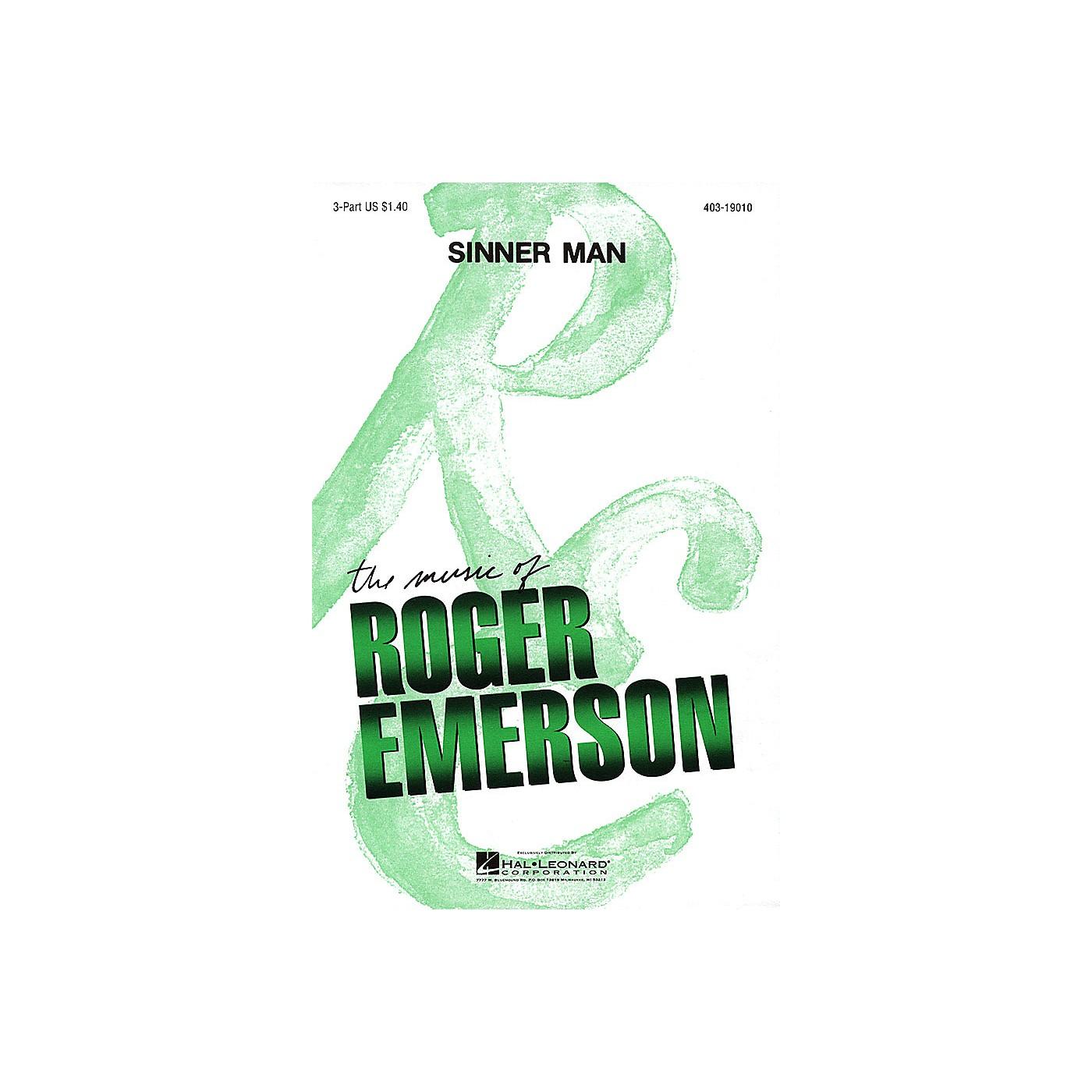 Hal Leonard Sinner Man 3 Part arranged by Roger Emerson thumbnail