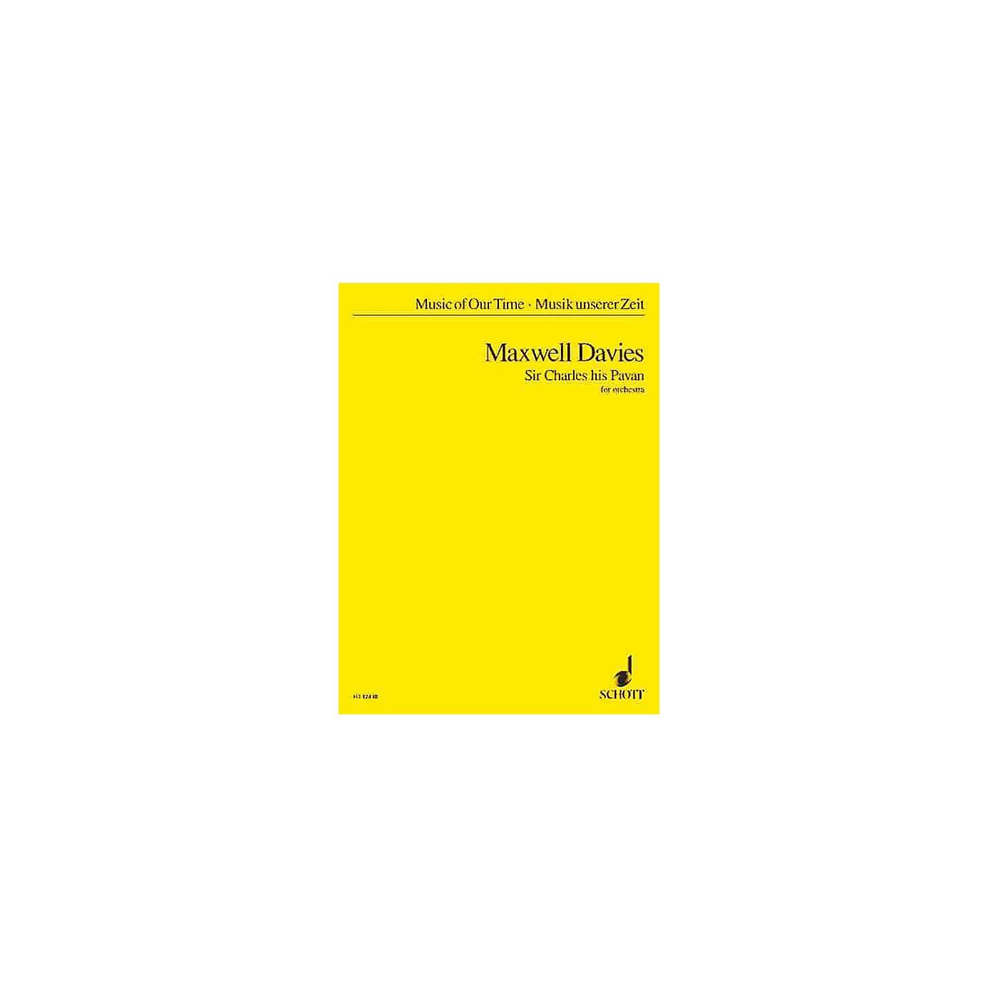 Schott Sir Charles His Pavan (Study Score) Schott Series Composed by Peter Maxwell-Davies thumbnail