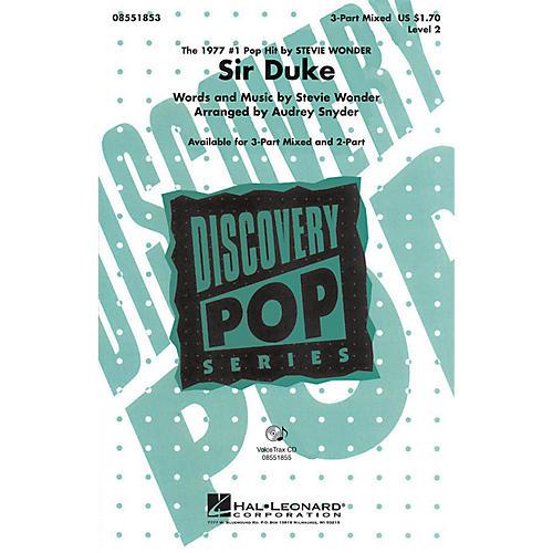 Hal Leonard Sir Duke VoiceTrax CD by Stevie Wonder Arranged by Audrey Snyder thumbnail