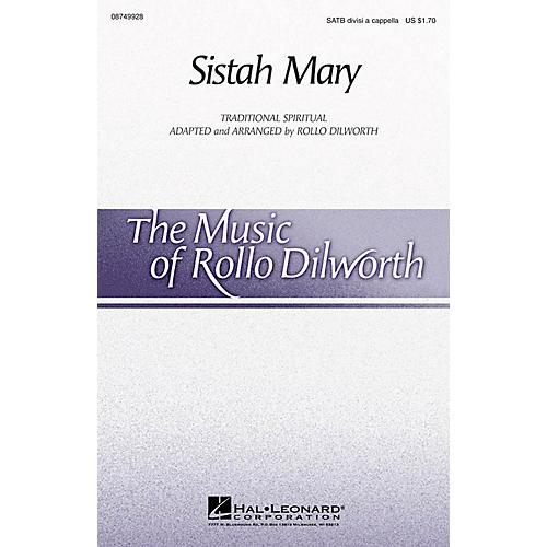 Hal Leonard Sistah Mary SATB DV A Cappella arranged by Rollo Dilworth thumbnail