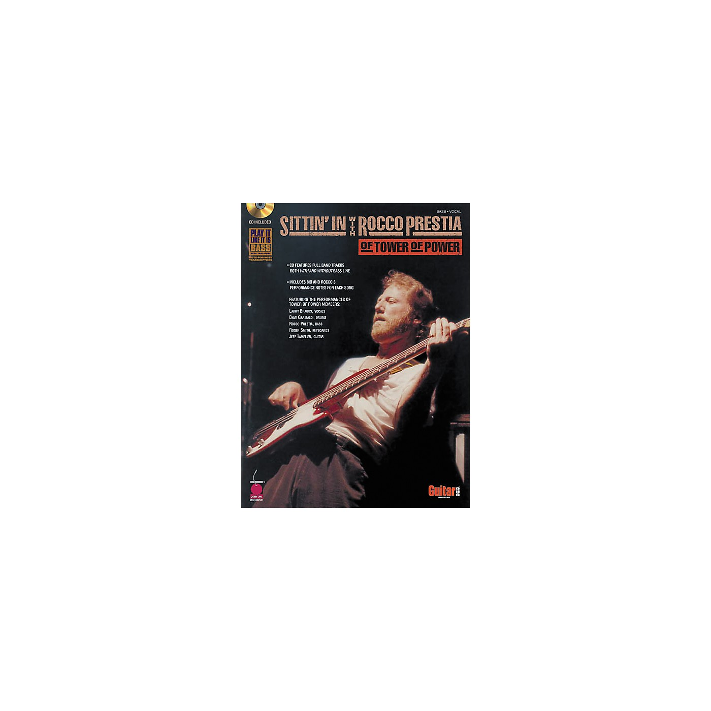 Cherry Lane Sittin' In with Rocco Prestia of Tower of Power Bass Guitar Tab Songbook with CD thumbnail