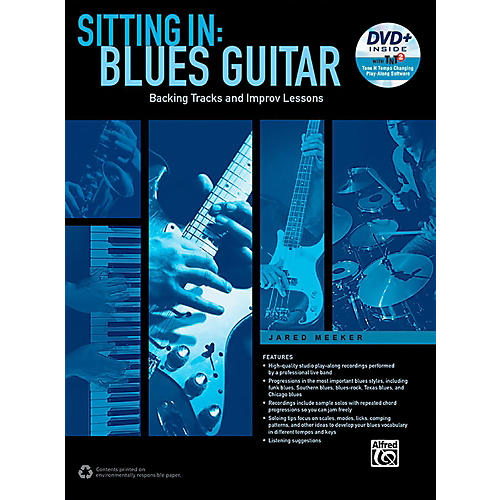 Alfred Sitting In: Blues Guitar Book & DVD-ROM thumbnail