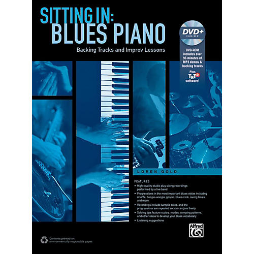 Alfred Sitting In: Blues Piano Book/DVD thumbnail