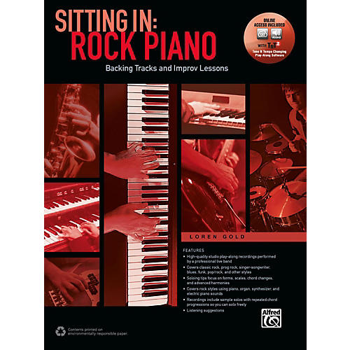 Alfred Sitting In: Rock Piano Book & Online Audio & Software Songbook thumbnail