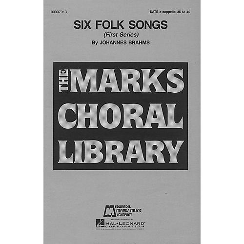 Edward B. Marks Music Company Six Folk Songs (Collection) SATB a cappella composed by Johannes Brahms thumbnail
