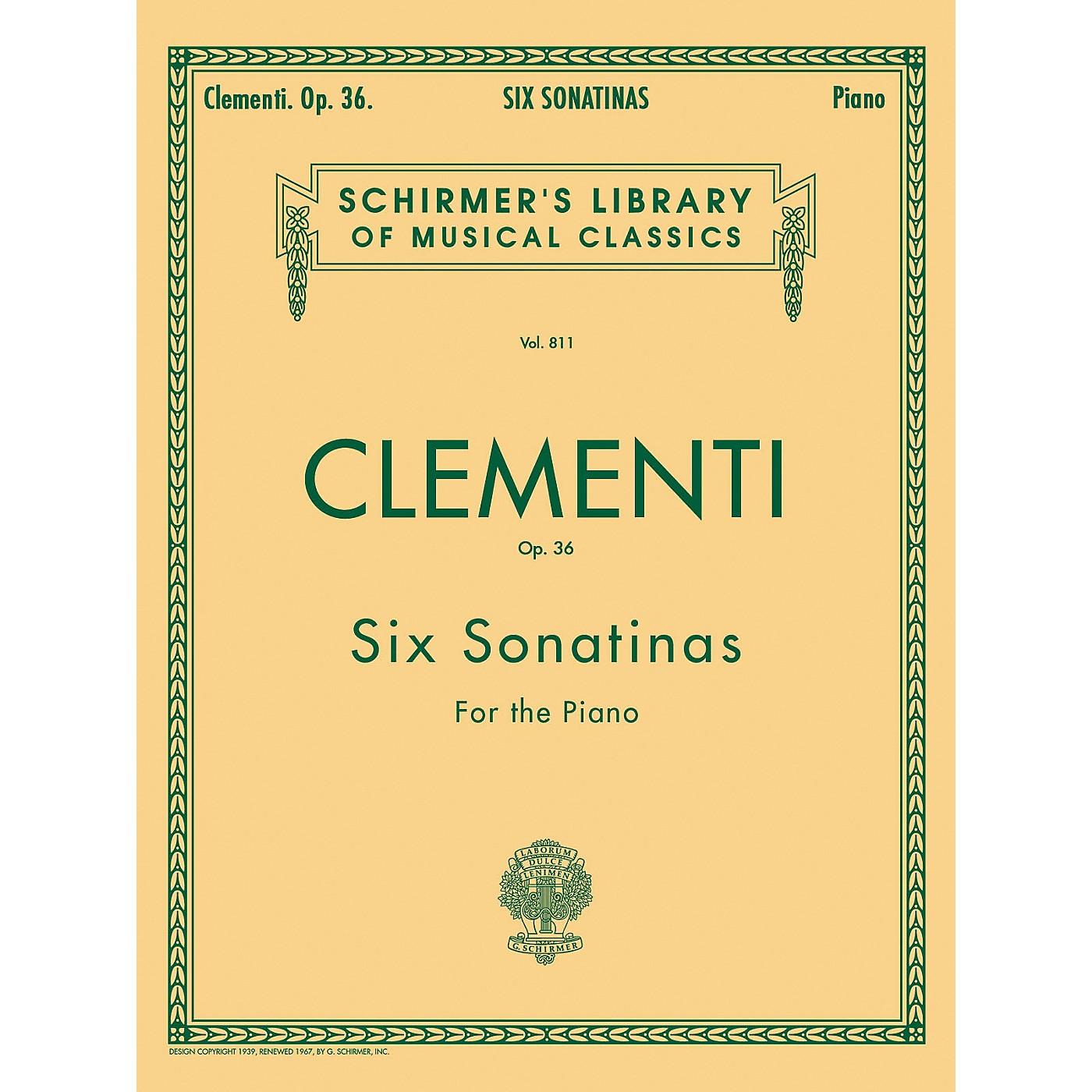 G. Schirmer Six Sonatinas Op 36 Piano By Clementi thumbnail