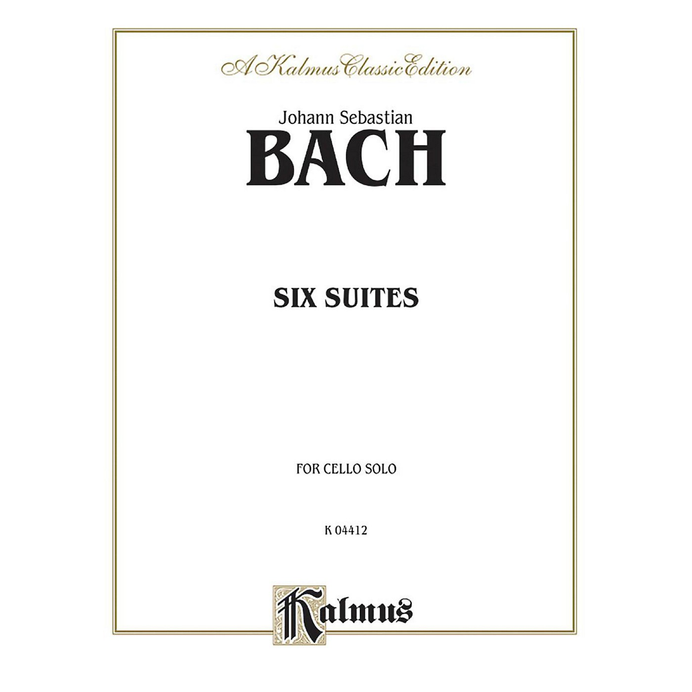 Alfred Six Suites for Cello Solo By Johann Sebastian Bach Book thumbnail