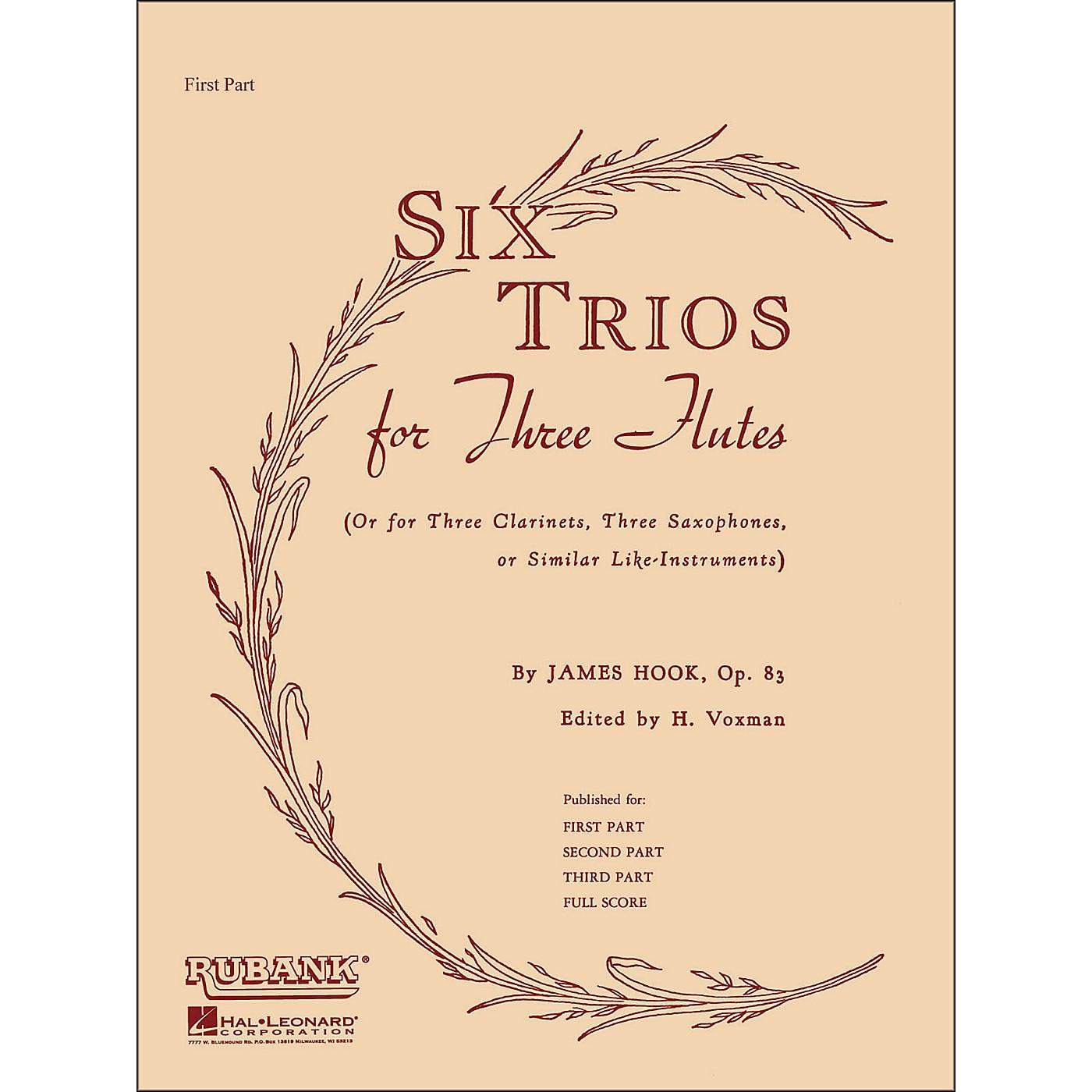 Hal Leonard Six Trios for Three Flutes First Part thumbnail