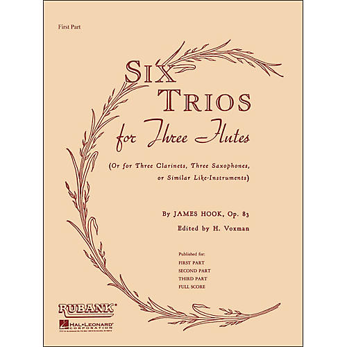 Hal Leonard Six Trios for Three Flutes First Part thumbnail