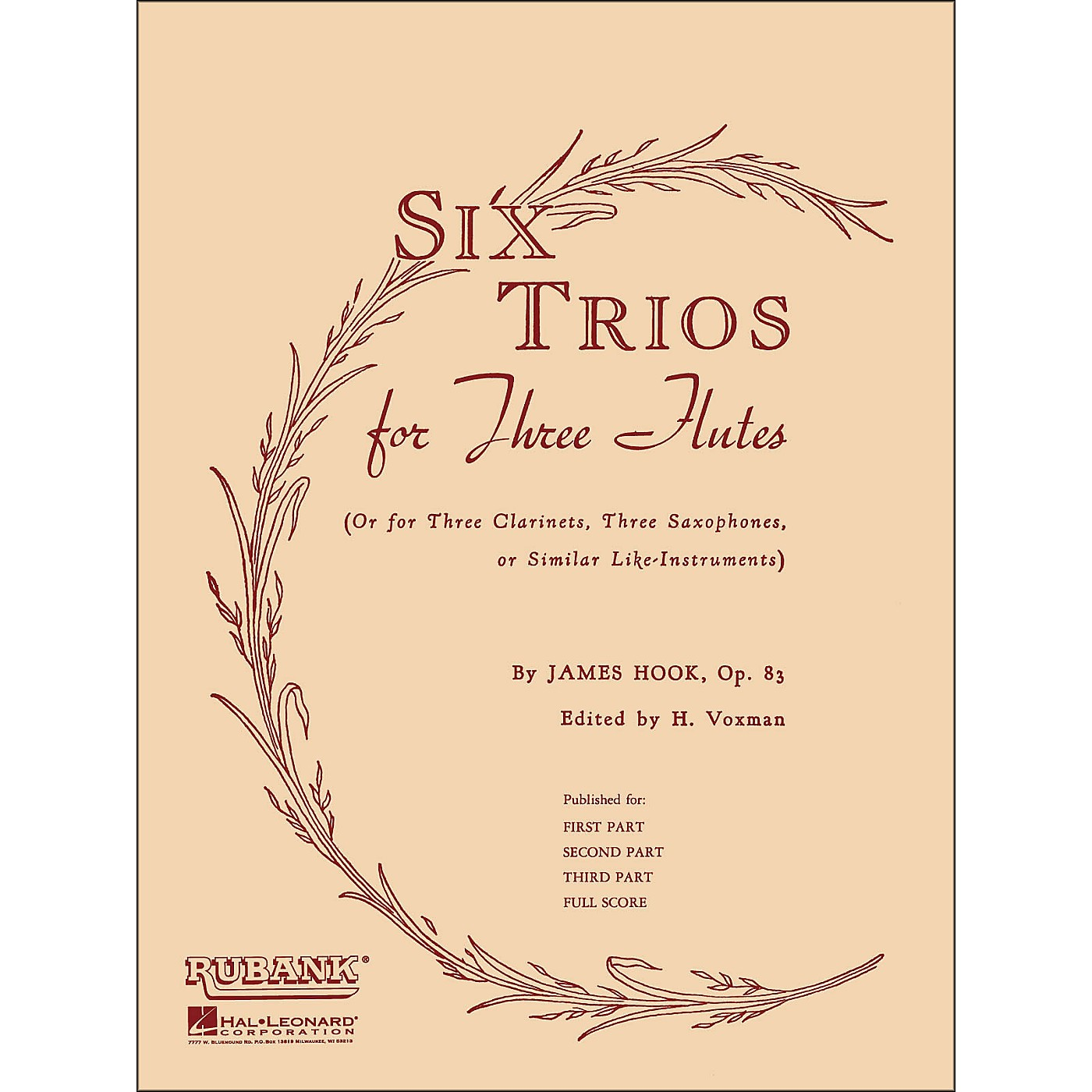 Hal Leonard Six Trios for Three Flutes Second Part thumbnail