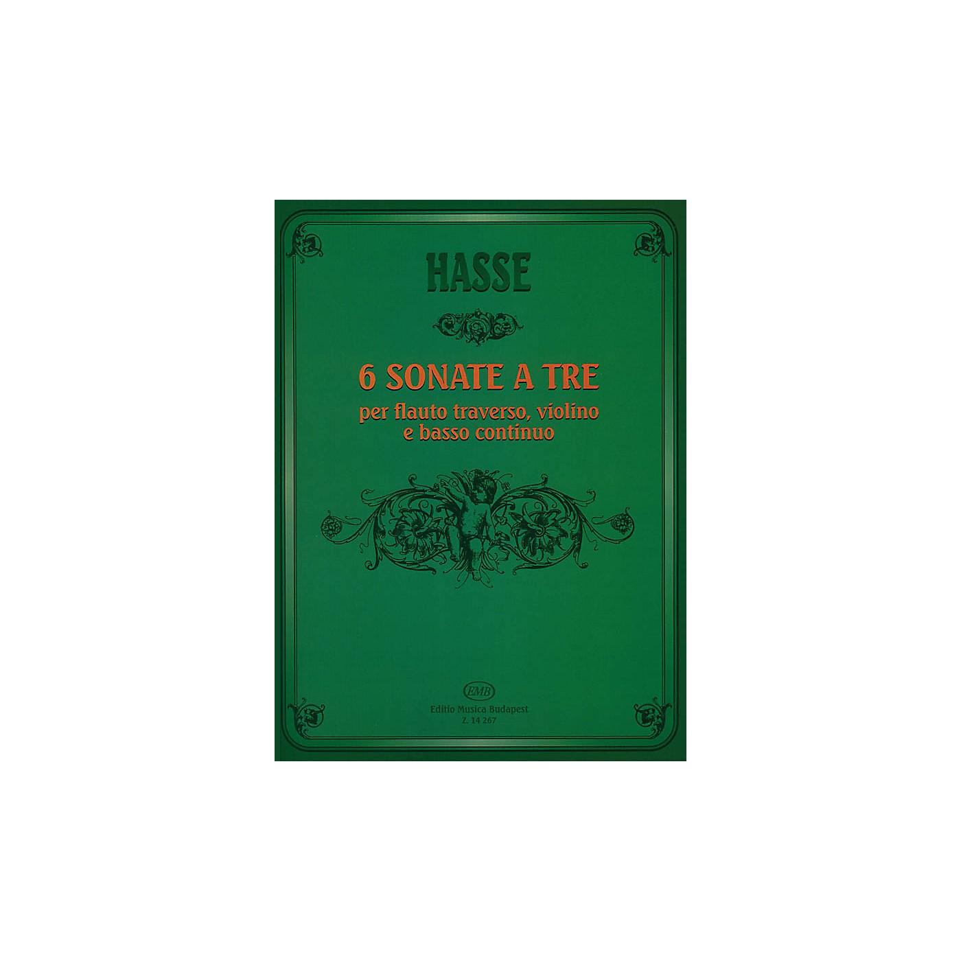 Editio Musica Budapest Six Triosonate per Flauto Traverso, Violino e Continuo EMB Series by J. A. Hasse thumbnail