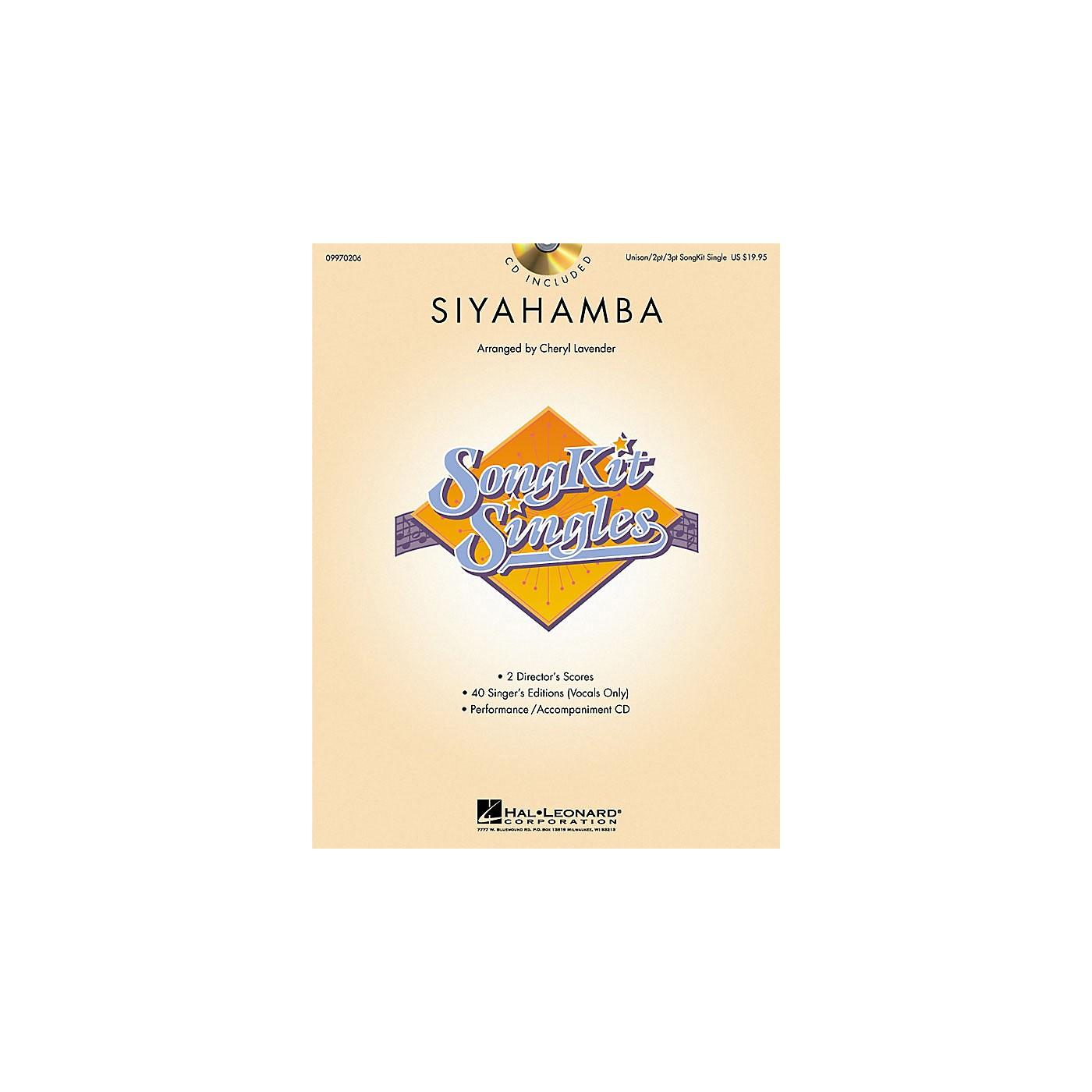 Hal Leonard Siyahamba (SongKit Single) 2 Part / 3 Part Arranged by Cheryl Lavender thumbnail