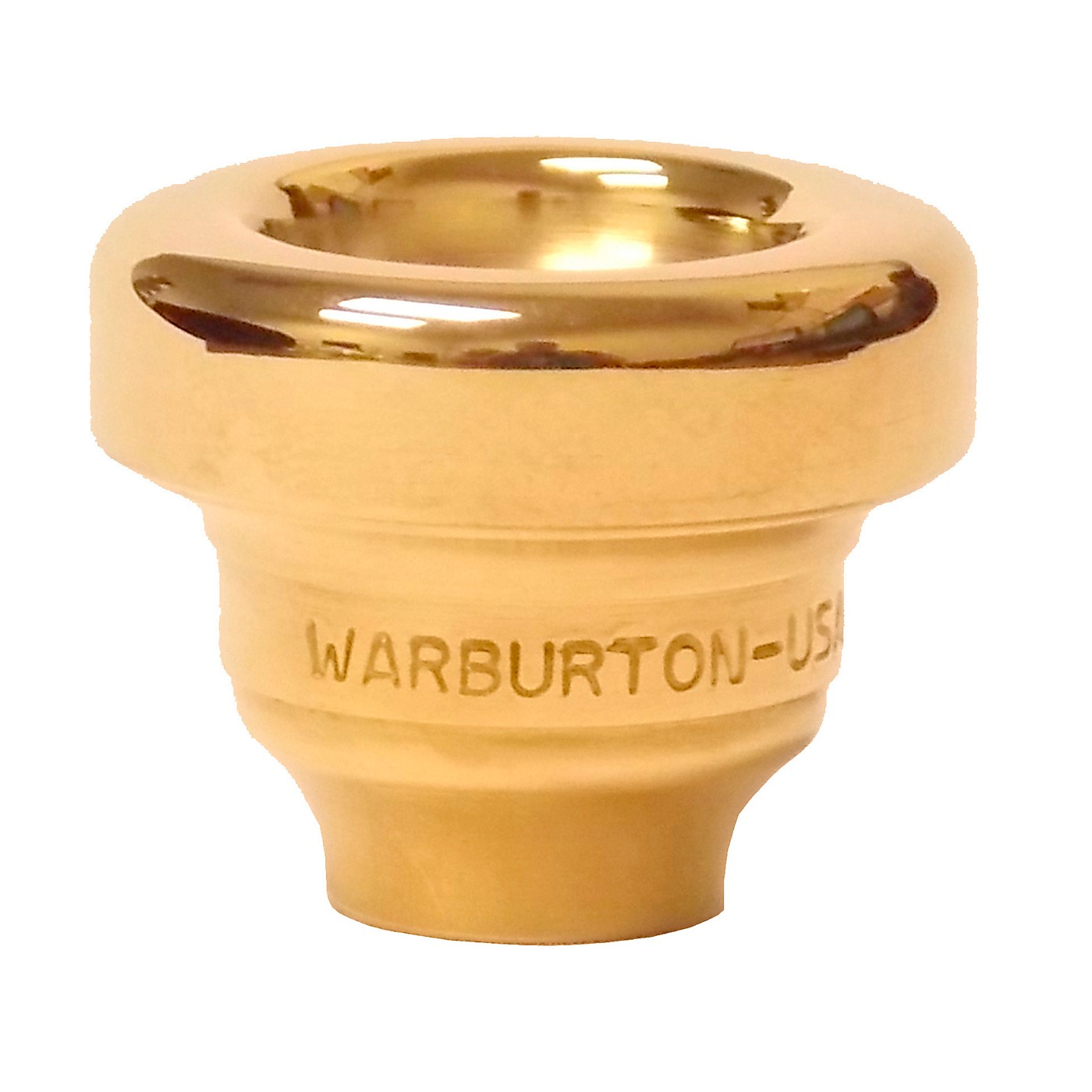 Warburton Size 10 Series Trumpet and Cornet Mouthpiece Top in Gold thumbnail