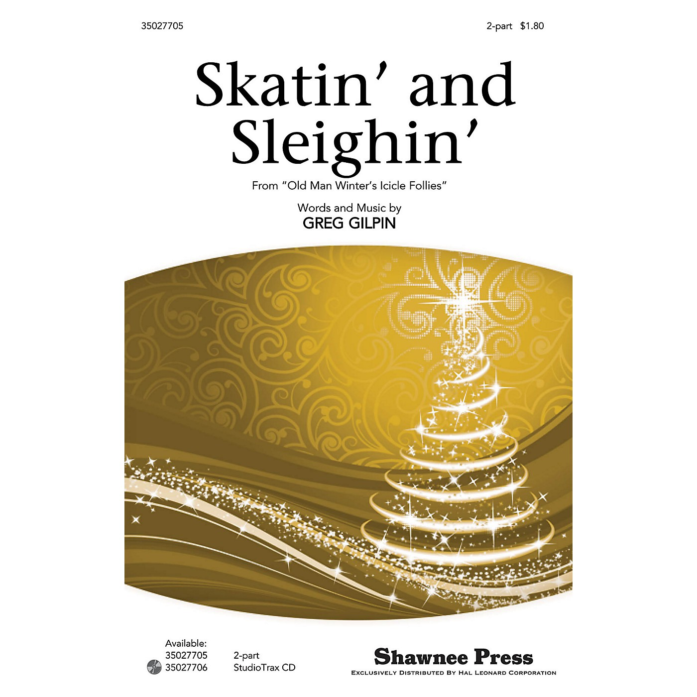 Shawnee Press Skatin' and Sleighin' 2-Part composed by Greg Gilpin thumbnail