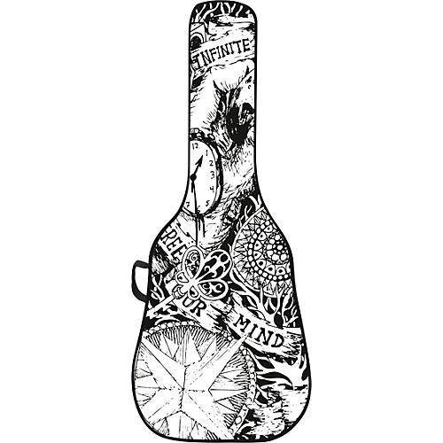 BOLDFACE Sketch Acoustic Guitar Gig Bag w/ Graphic Face Panel thumbnail