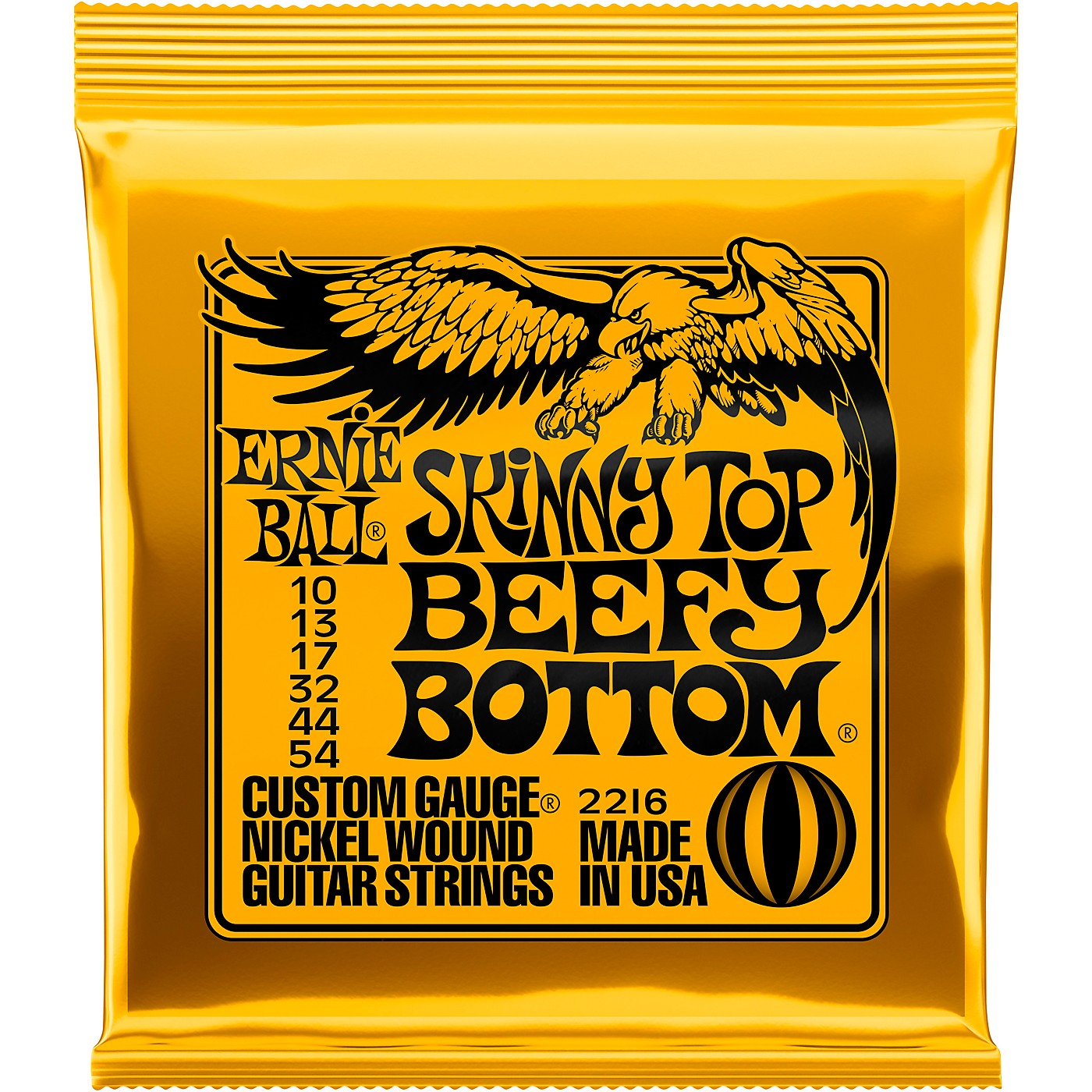 Ernie Ball Skinny Top/Beefy Bottom 2216 (10-54) Nickel Wound Electric Guitar Strings thumbnail