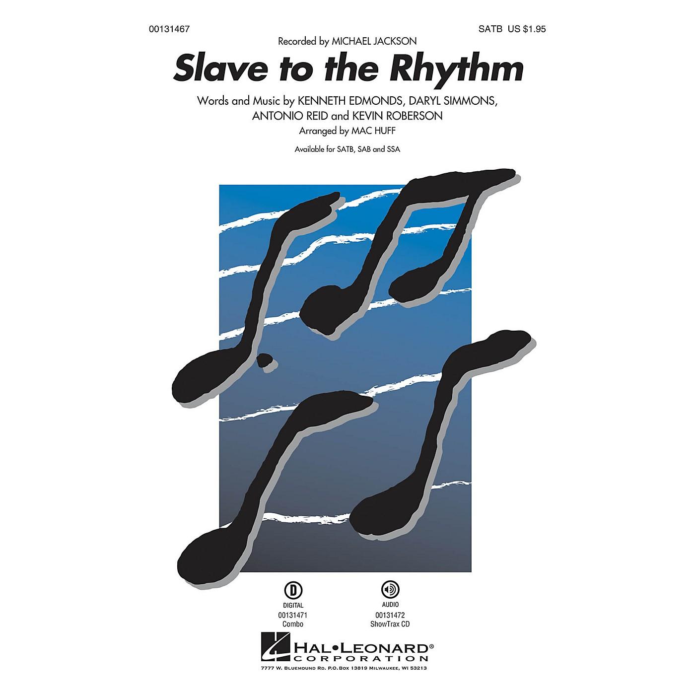 Hal Leonard Slave to the Rhythm SAB by Michael Jackson Arranged by Mac Huff thumbnail