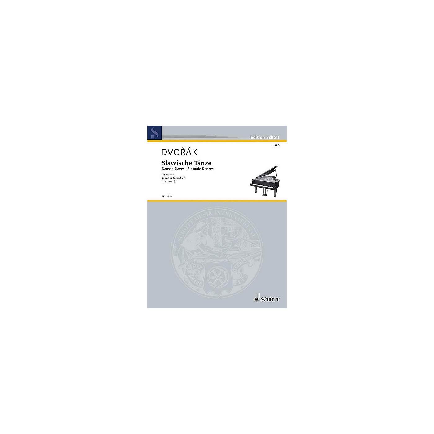 Schott Slavonic Dances, Op. 46 and 72 Schott Series thumbnail
