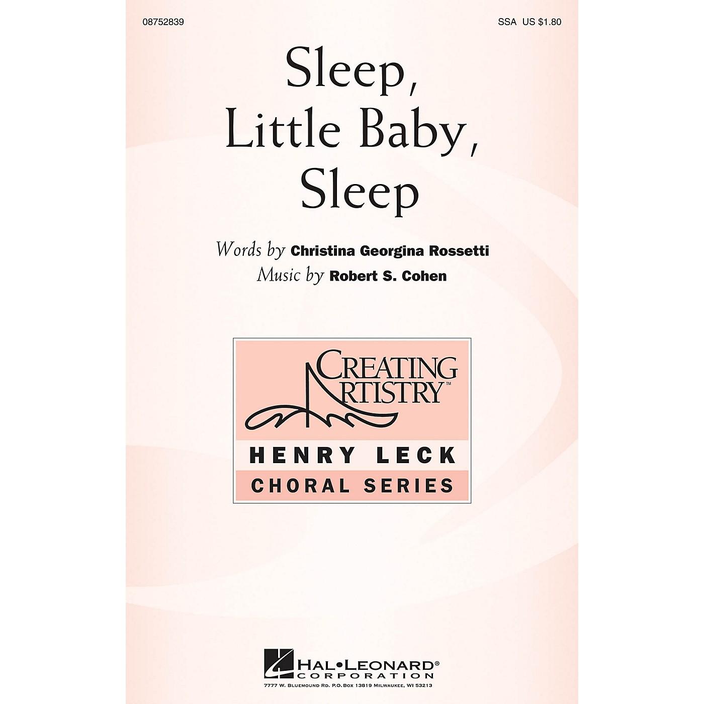 Hal Leonard Sleep, Little Baby, Sleep SSA composed by Robert Cohen thumbnail