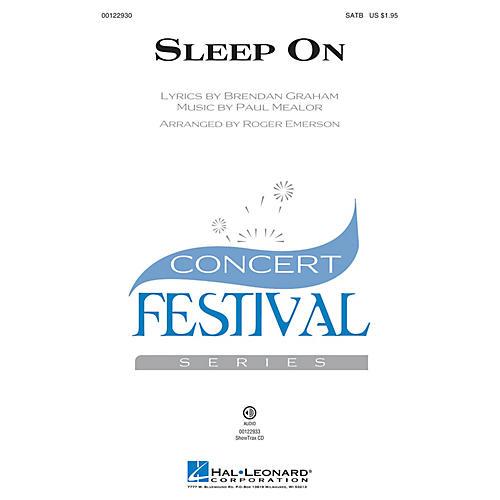 Hal Leonard Sleep On SAB by Hayley Westenra Arranged by Roger Emerson thumbnail