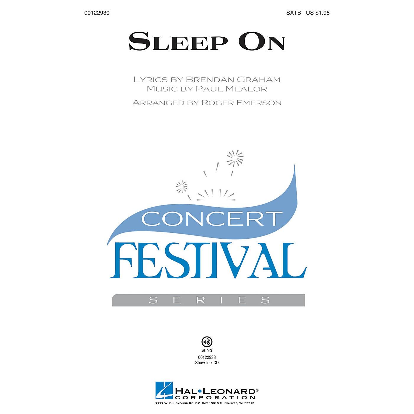 Hal Leonard Sleep On SATB by Hayley Westenra arranged by Roger Emerson thumbnail