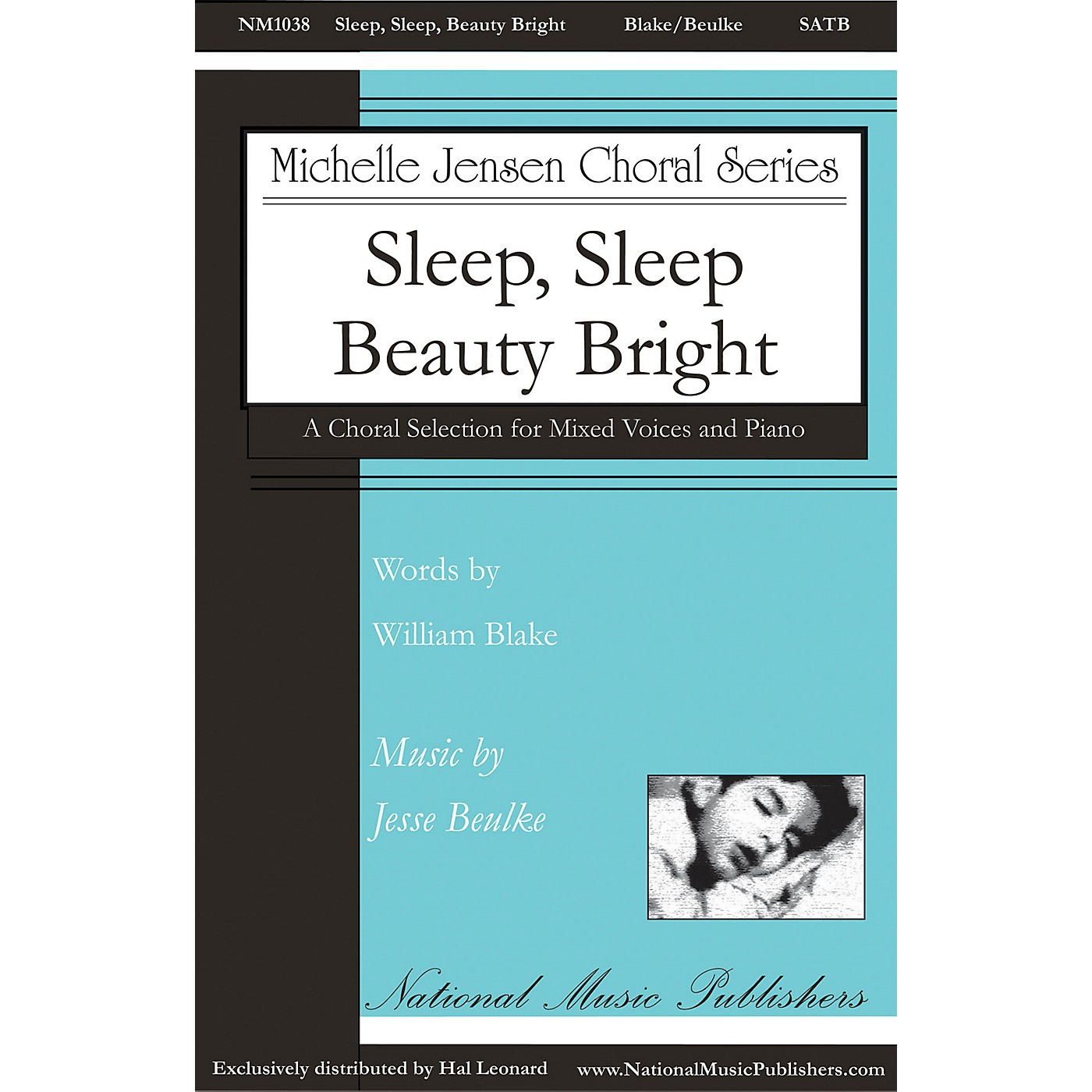 National Music Publishers Sleep, Sleep, Beauty Bright SATB composed by Jesse Beulke thumbnail