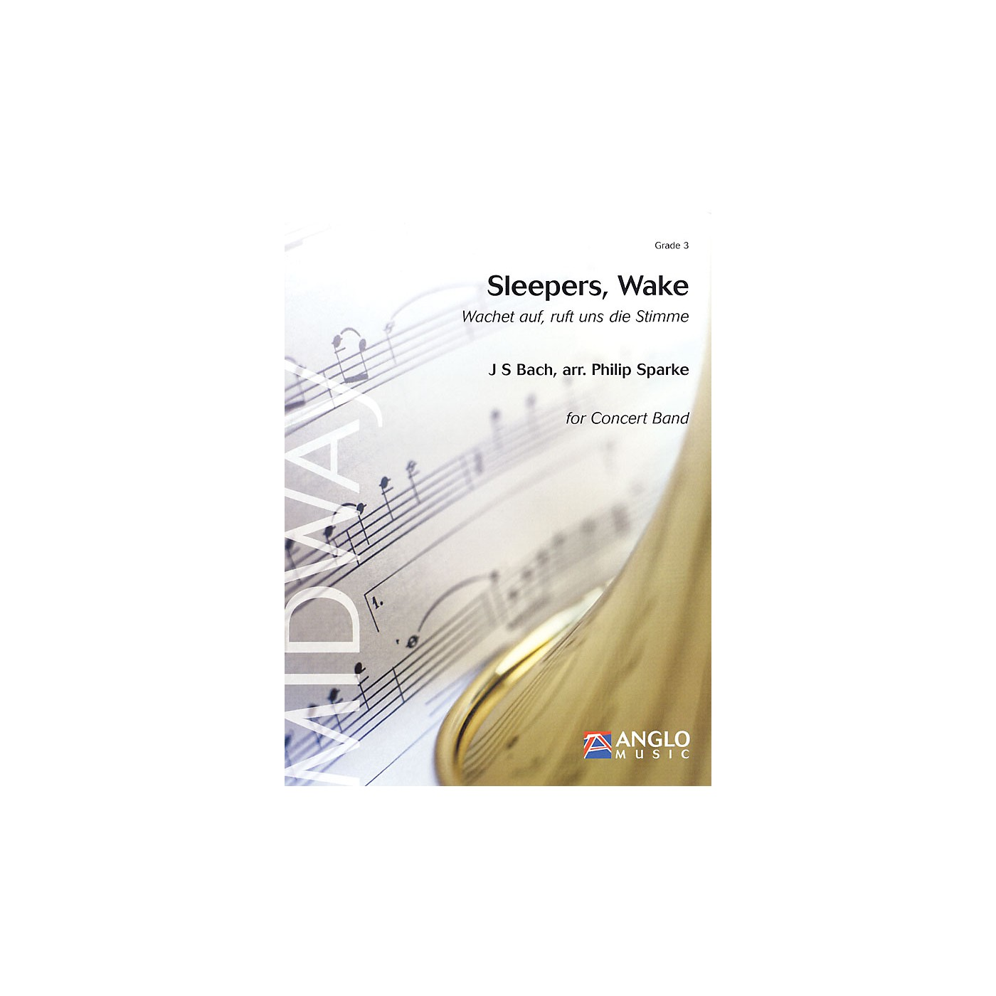 Anglo Music Press Sleepers, Wake (Grade 3 - Score Only) Concert Band Level 3 Arranged by Philip Sparke thumbnail