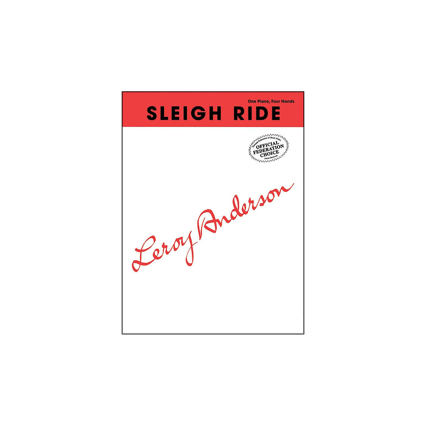 Alfred Sleigh Ride Late Intermediate Piano Duet thumbnail
