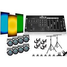 CHAUVET DJ SlimPar 38 DMX4MF 8 Light System