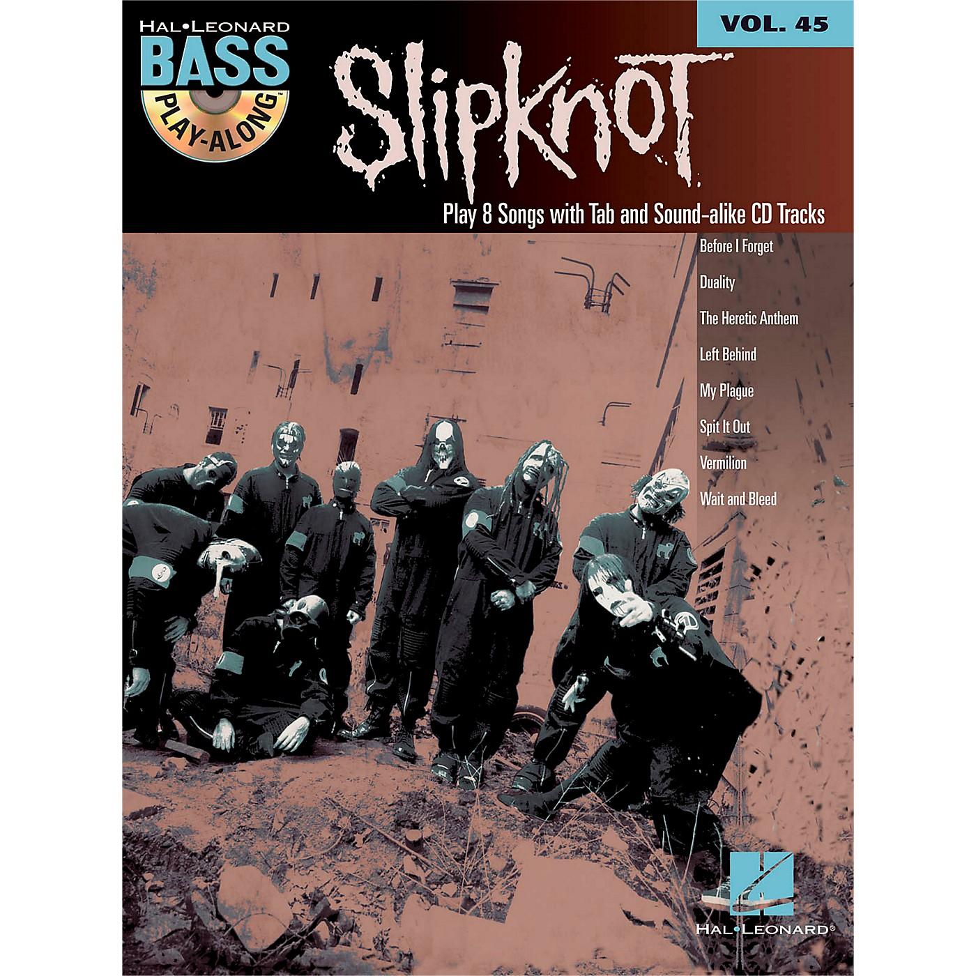 Hal Leonard Slipknot - Bass Play-Along Volume 45 Book/CD thumbnail