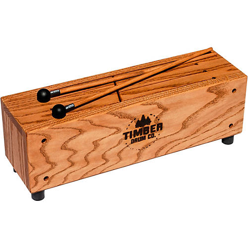 timber drum company slit tongue log drum with mallets woodwind brasswind