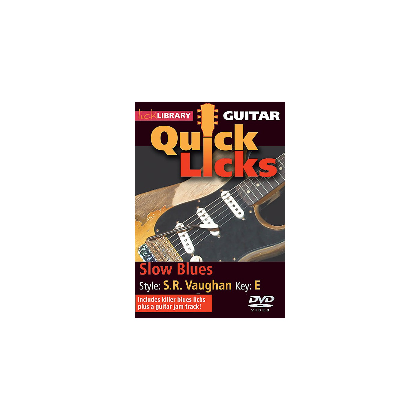Licklibrary Slow Blues - Quick Licks (Style: Stevie Ray Vaughan; Key: E) Lick Library Series DVD by Jamie Humphries thumbnail
