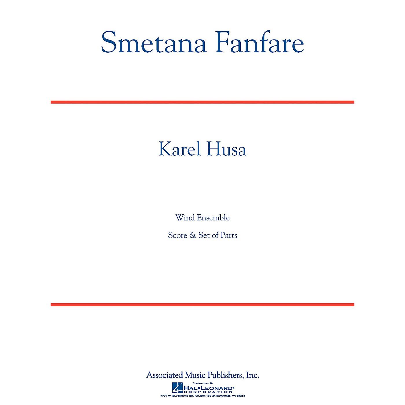 Associated Smetana Fanfare (Full Score) Concert Band Level 4-5 Composed by Karel Husa thumbnail