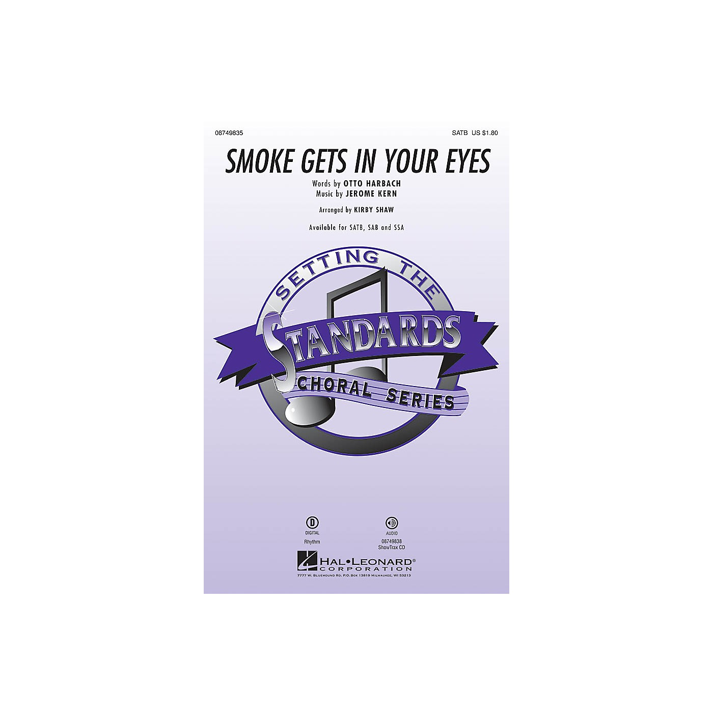 Hal Leonard Smoke Gets in Your Eyes ShowTrax CD Arranged by Kirby Shaw thumbnail