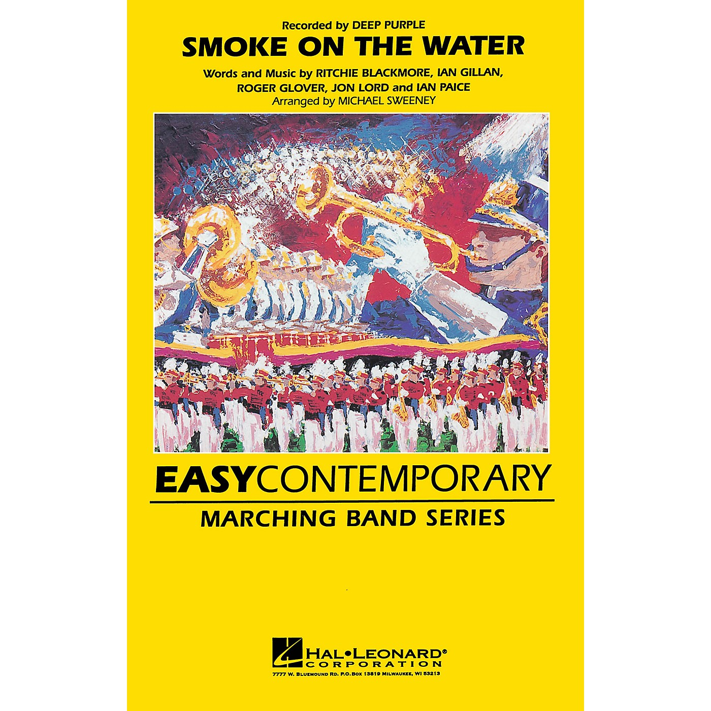 Hal Leonard Smoke on the Water Marching Band Level 2-3 Arranged by Michael Sweeney thumbnail