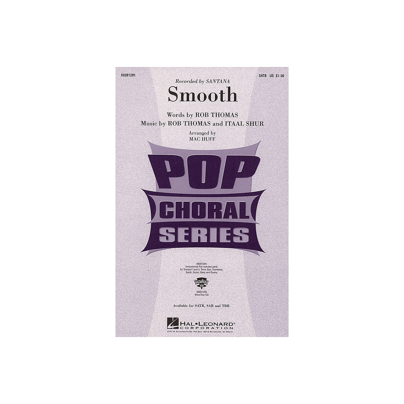 Hal Leonard Smooth ShowTrax CD by Santana Arranged by Mac Huff thumbnail