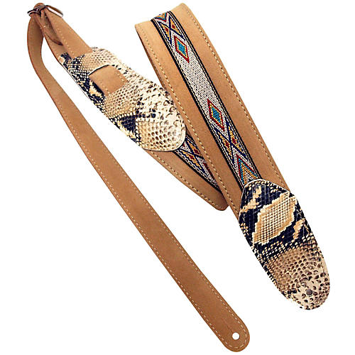 LM Products Snake Embossed and Suede Guitar Strap thumbnail