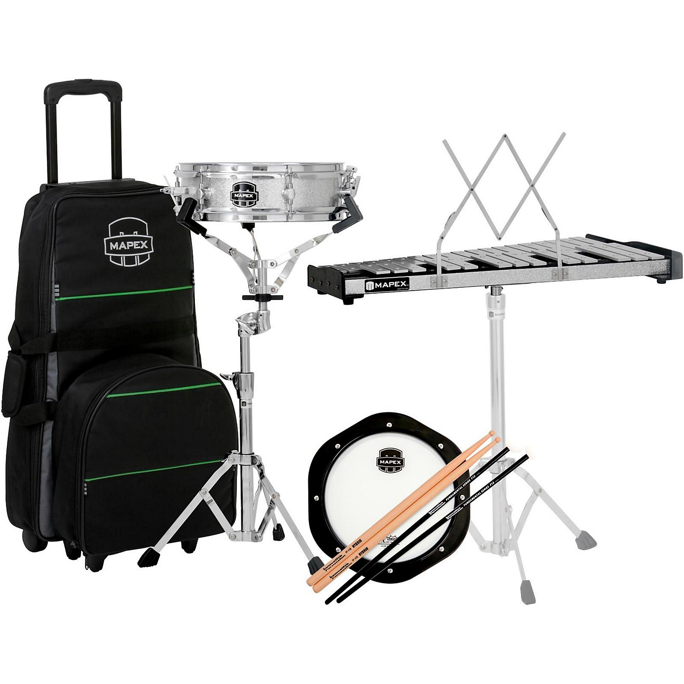 Mapex Snare Drum/Bell Percussion Kit with Rolling Bag thumbnail