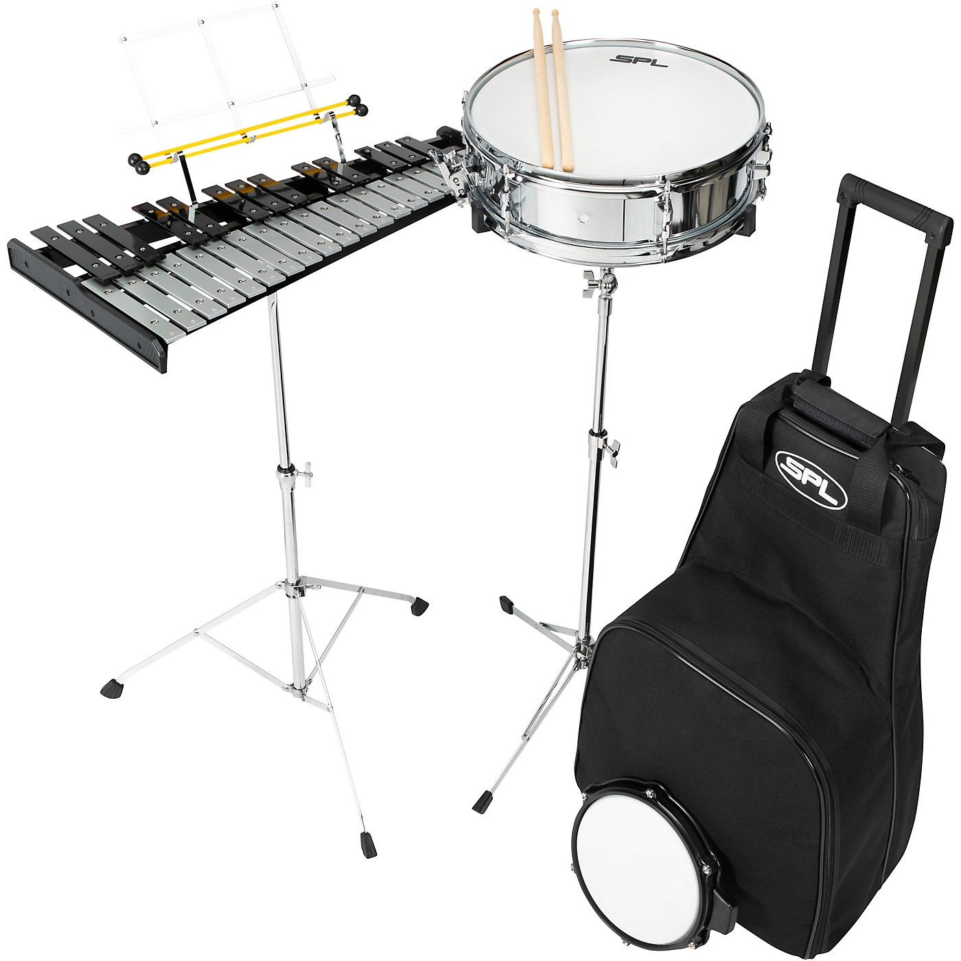 Sound Percussion Labs Snare and Bell Kit with Rolling Bag thumbnail