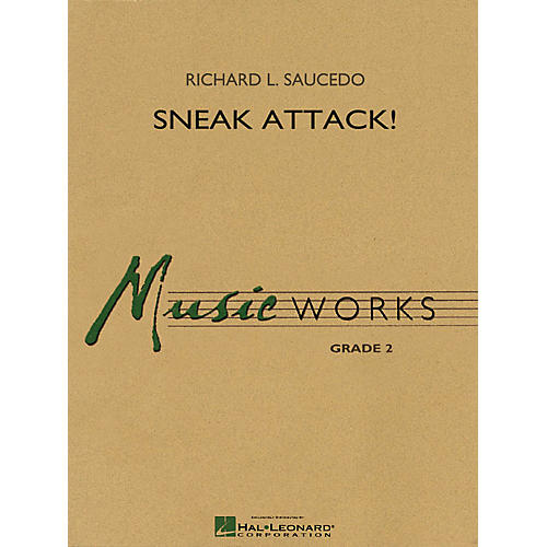 Hal Leonard Sneak Attack! Concert Band Level 2-2 1/2 Composed by Richard L. Saucedo thumbnail