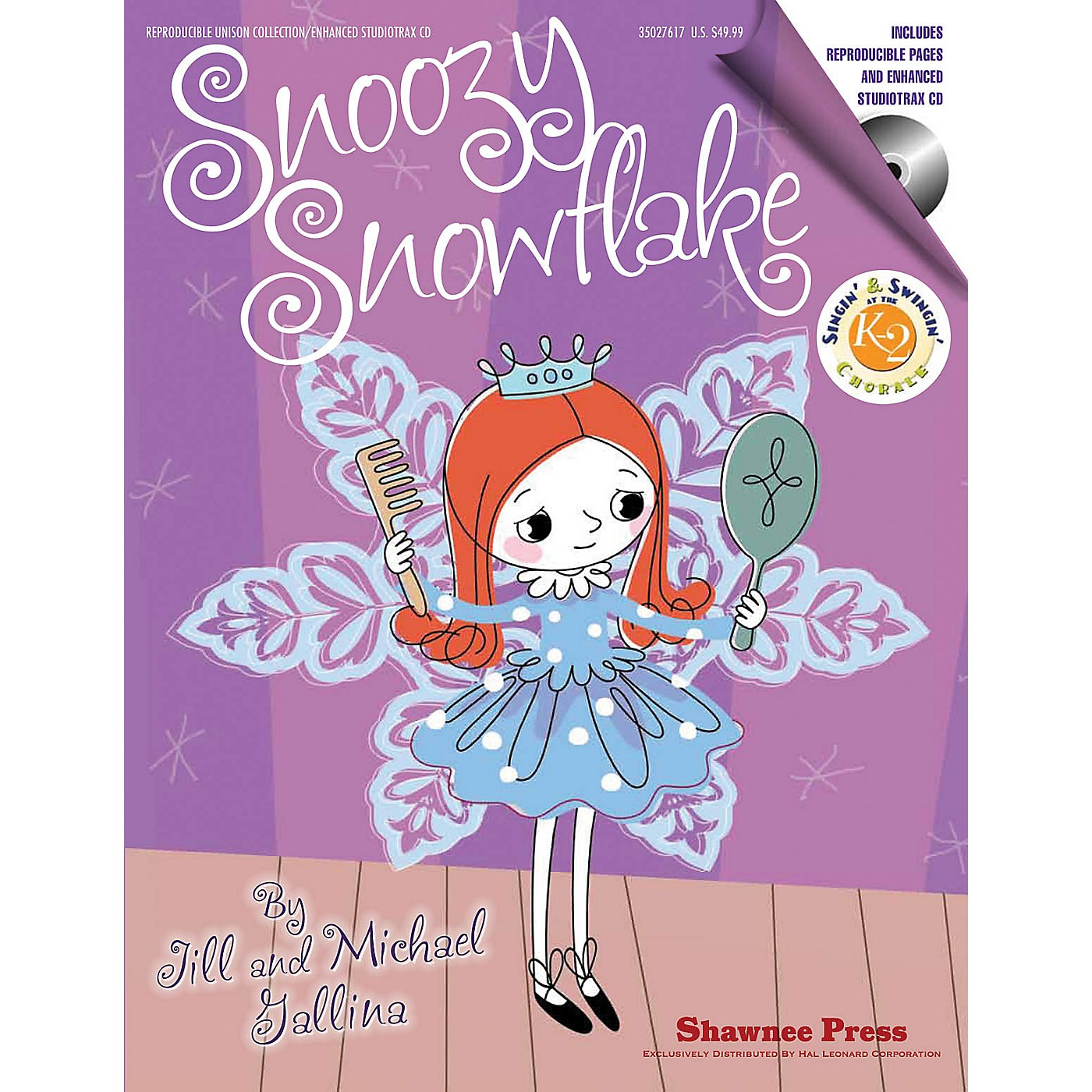 Shawnee Press Snoozy Snowflake REPRO COLLECT UNIS BOOK/CD Composed by Jill Gallina thumbnail
