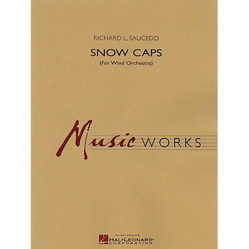Hal Leonard Snow Caps Concert Band Level 5 Composed by Richard L. Saucedo thumbnail