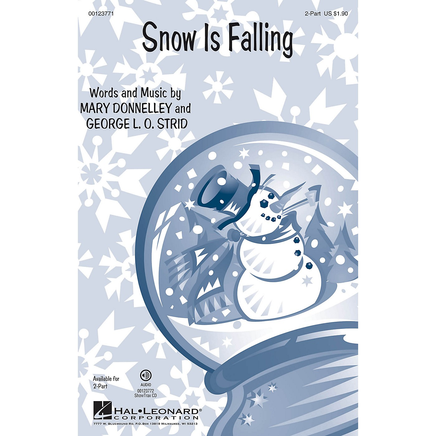 Hal Leonard Snow Is Falling 2-Part composed by George L.O. Strid thumbnail