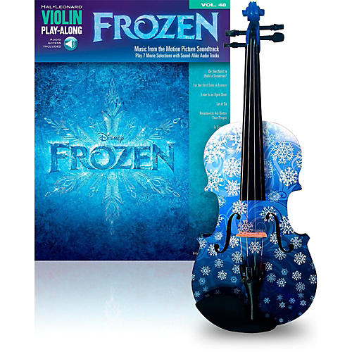 Rozanna's Violins Snowflake 3/4 Violin Outfit with Disney Frozen Songbook thumbnail