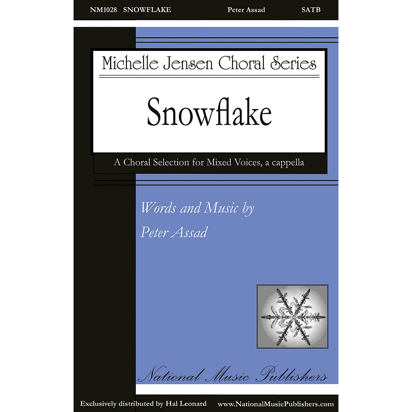 National Music Publishers Snowflake SATB a cappella composed by Peter Assad thumbnail