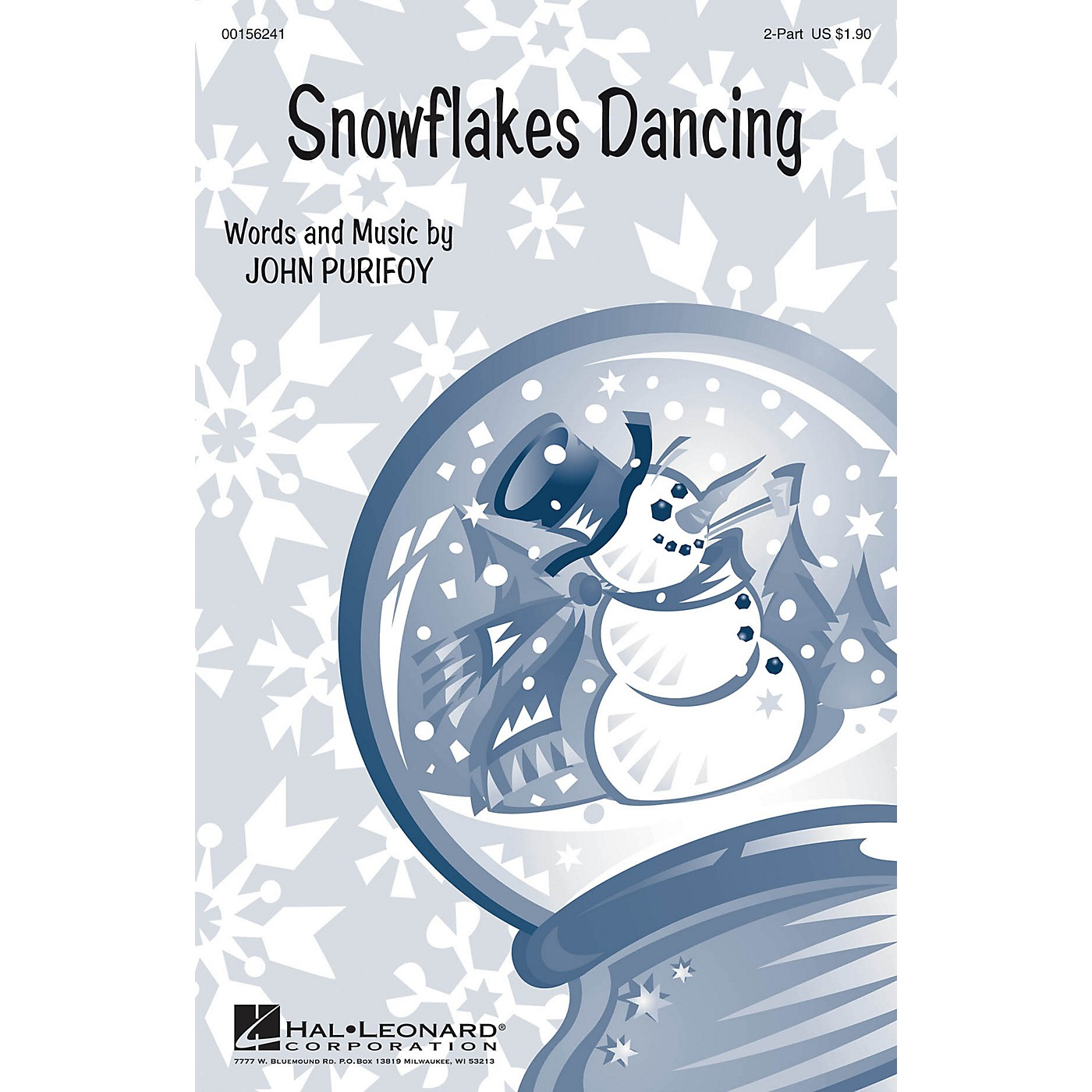 Hal Leonard Snowflakes Dancing SA with optional 2nd sop composed by John Purifoy thumbnail