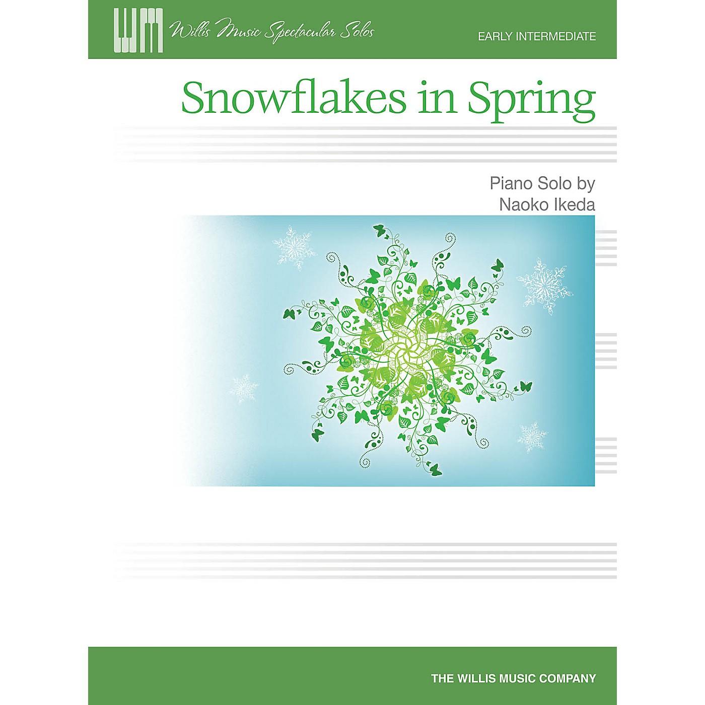 Willis Music Snowflakes in Spring (Early Inter Level) Willis Series by Naoko Ikeda thumbnail