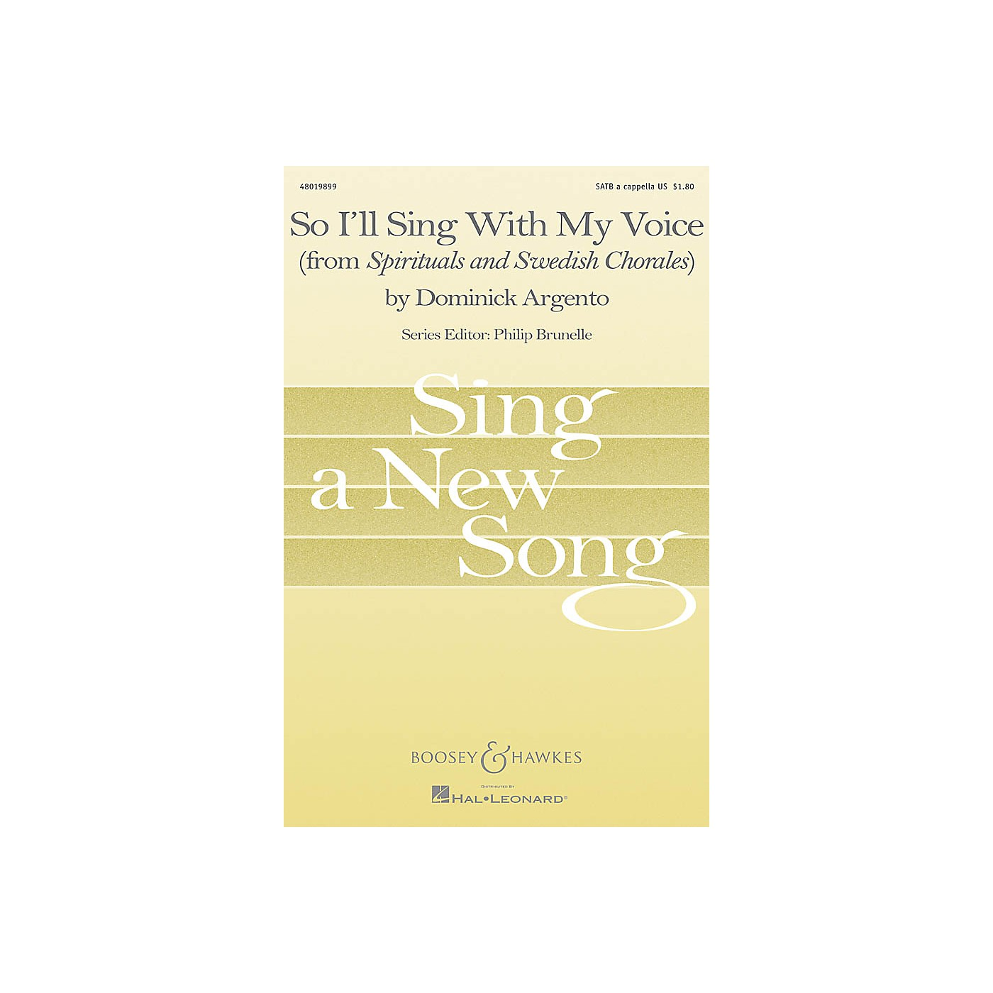 Boosey and Hawkes So I'll Sing with My Voice (from Spirituals and Swedish Chorales) SATB a cappella by Dominick Argento thumbnail