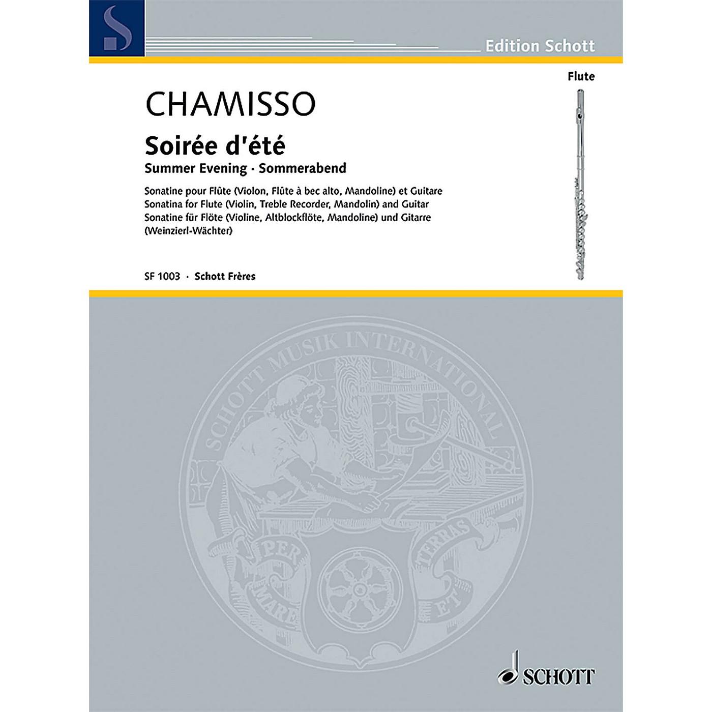Schott Soirée d'été (Summer Evening) Schott Composed by Olivier Mayran de Chamisso Edited by Elisabeth Weinzierl thumbnail