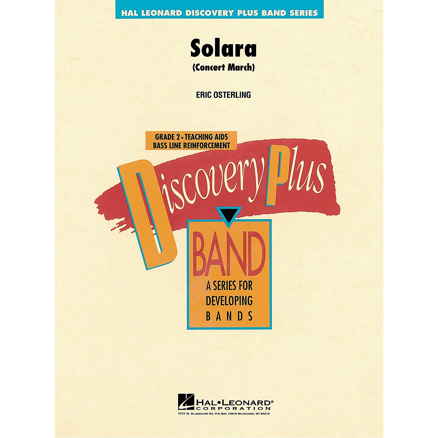 Hal Leonard Solara (Concert March) - Discovery Plus Concert Band Series Level 2 composed by Eric Osterling thumbnail